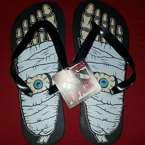 e5a6b5e4d53d3 Sourpuss Shoes - Sourpuss Mummy Eyeball Halloween Flip Flops Shoes